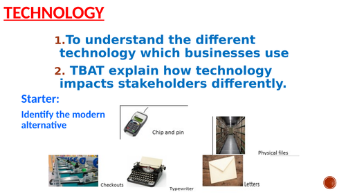 Technology in Business (e-commerce and m-commerce)
