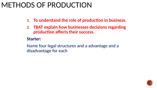 Methods of production (flow and job)