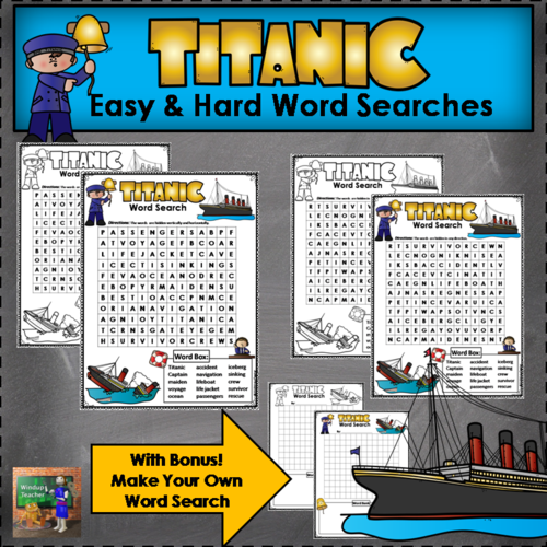 Titanic Word Searches - Easy and Hard