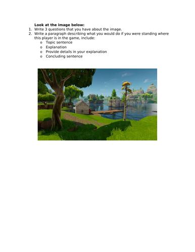 6 Week English - Gaming/Fornite Scheme of Work