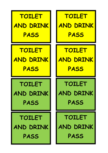 Toilet and Drink Pass