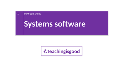 GCSE Computer Science - Systems Software FULL GUIDE