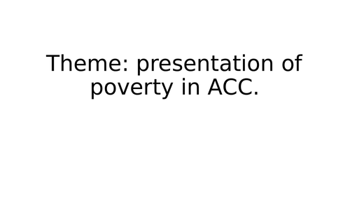 GCSE literature: A Christmas Carol- presentations of poverty
