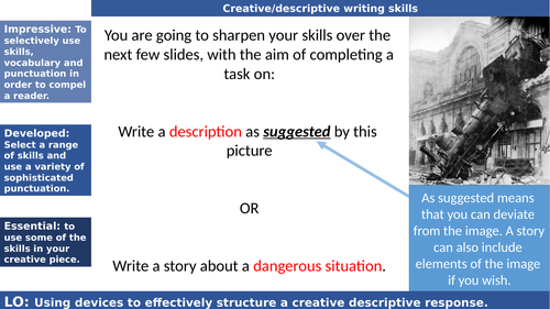 Creative descriptive writing_ Train wreck_question 5 paper 1 GCSE