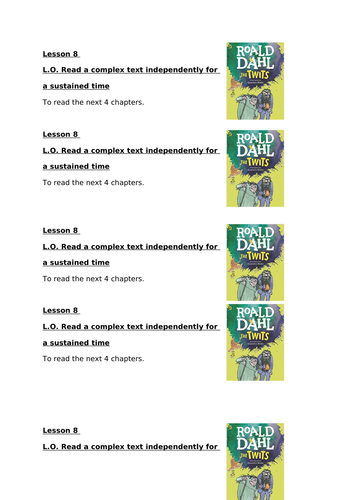 The Twits complete term guided reading