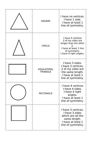 KS2 Shape 1/2 Lesson