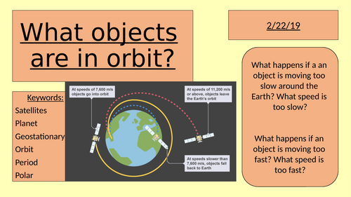 Orbiting objects and satellites