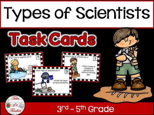 Types of Scientists Task Cards