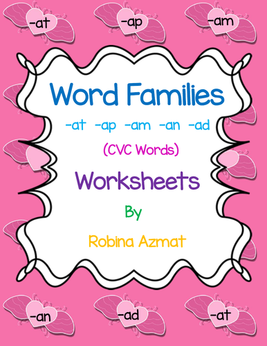 Word Families -at -am -an -ap and -ad
