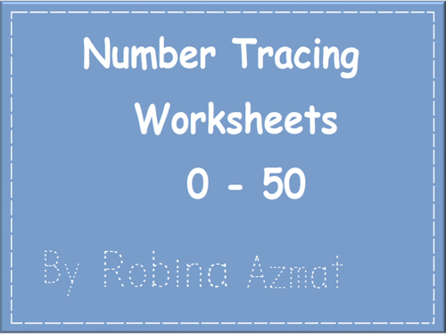 Number Tracing Worksheets from 0 to 50