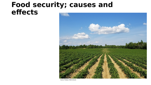 Food security; nature, causes and effects
