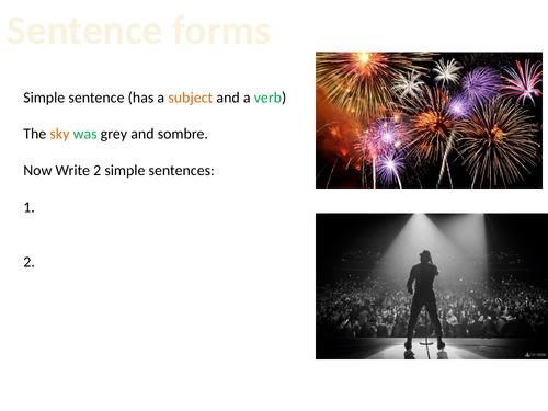 Sentence forms