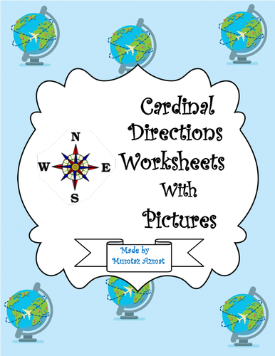 Geography:Cardinal Directions Worksheets with Pictures