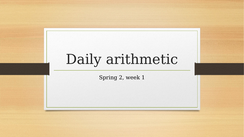 10 daily arithmetic questions, SATS revision