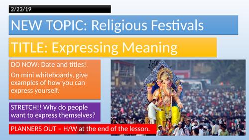 KS3-Festivals, Expressing Meaning