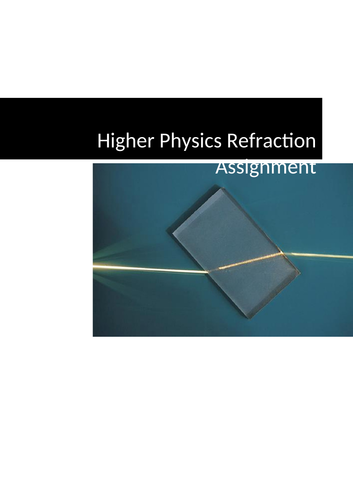 Higher Physics Refractive Index Research Assignment on Experiment