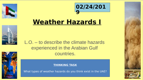 UAE Social Studies - Climate and Weather Double