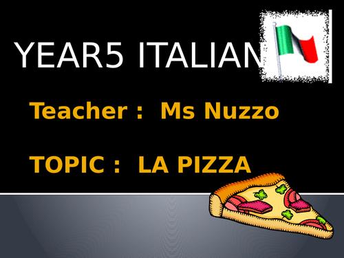 Italian Primary Taster Lesson