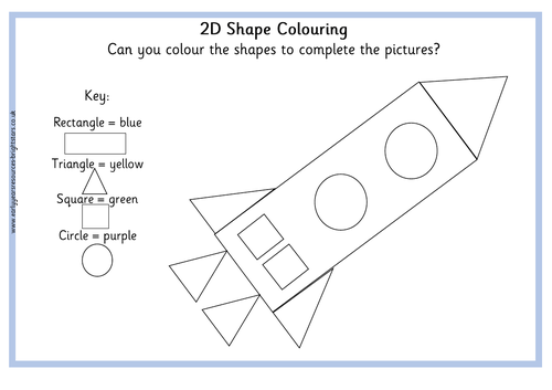 2D Shape Colouring