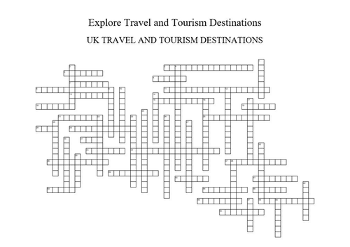 UK Travel and Tourism Destinations Crossword