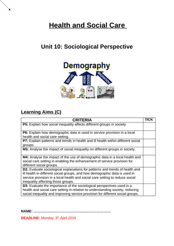 Unit 10: Sociological Perspective (Learning Aim C)