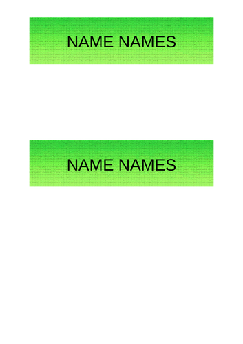 Colourful Drawer / Name Labels