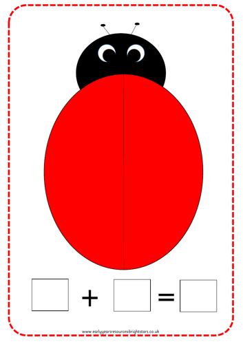 Ladybird Addition Template