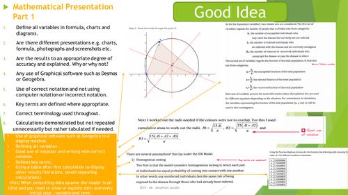 Internal-Assessement poster - Mathematical presentation - please give feedback