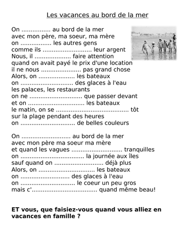 IBDP French B EXPERIENCES-Je me souviens