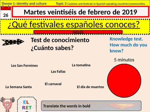Theme 1, festivals in Spanish speaking countries