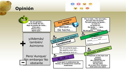 Spanish speaking opinion support