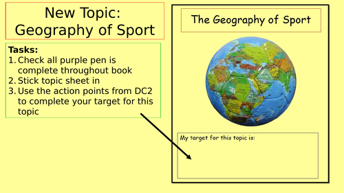 Geography of Sport SOW