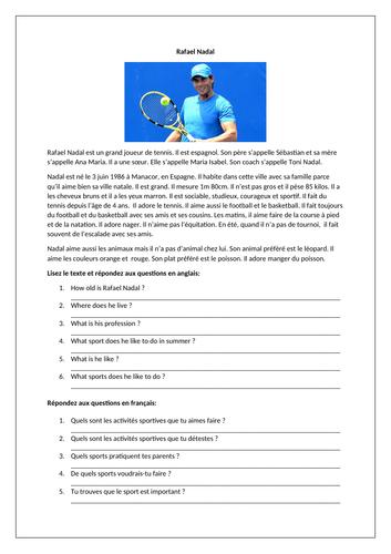 Rafael Nadal / Famous sportsment / Sport