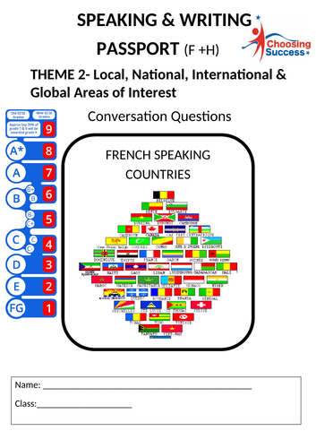 THEME 2- Local, National, International & Global Areas of Interest/Questions booklet
