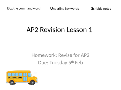 OCR GCSE Revision lesson