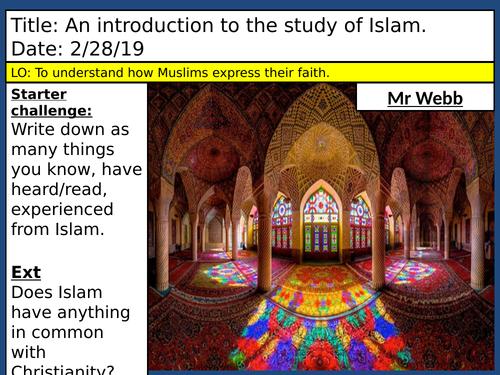 Islamic beliefs- including 5 pillars- KS3