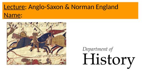 Anglo-Saxon/Normans Lecture GCSE