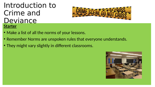 3 lessons GCSE new spec Eduqas crime and deviance- intro, role of police, role of courts