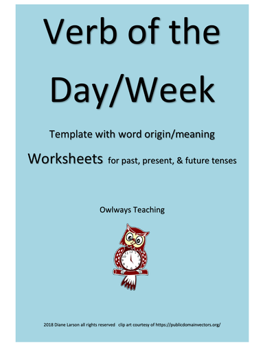 VERBS flip books & writing activities for the 3 main verb tenses