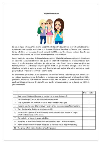 La cyberintimidation / L'internet / Cyber-bullying / Internet / Social Media