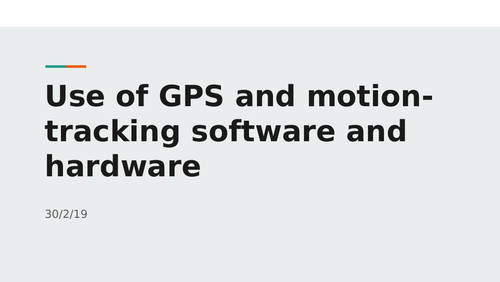 Use of GPS and motion tracking software and hardware