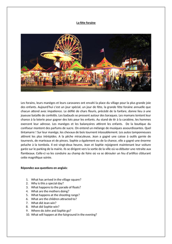 La fête foraine / Funfair / Holidays / Celebrations
