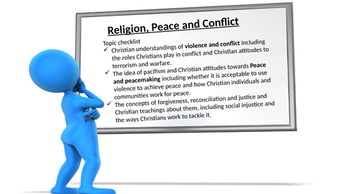 OCR GCSE RS religion, peace & conflict lesson 1