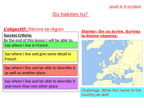 French Ou Habites Tu Where Do You Live Teaching Resources Certain parts of america can feel like a whole separate country from where you live. french ou habites tu where do you live