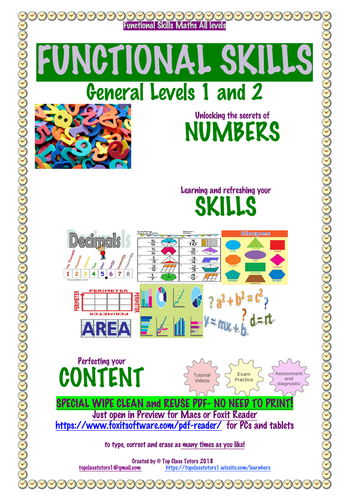 Functional Skills MATHS Section 1 Part 1 WHAT IS A NUMBER?