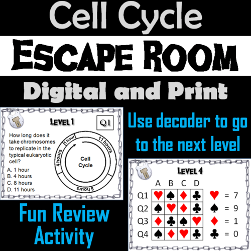 Cell Cycle Activity Ap Biology Escape Room Science Mitosis And Meiosis Teaching Resources