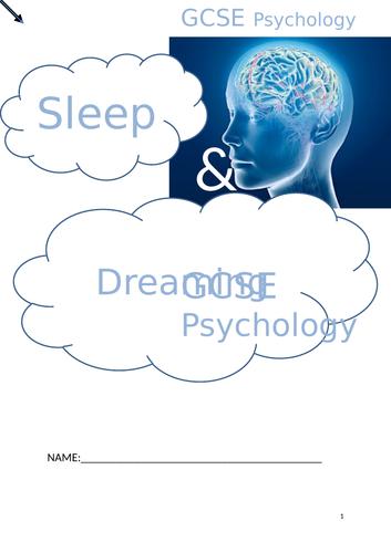 OCR GCSE psychology sleep and dreaming bundle