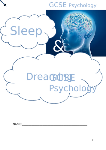 OCR GCSE psychology sleep and dreaming topic