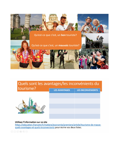 French A Level/IB Tourism: Speaking, Reading & Listening