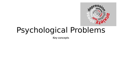GCSE OCR psychology psychological problems topic